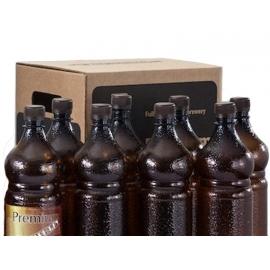 Комплект ПЭТ бутылок с пробками и этикетками в коробке